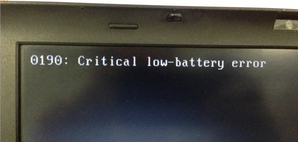 笔记本开机出现0190 Critical low-battery error