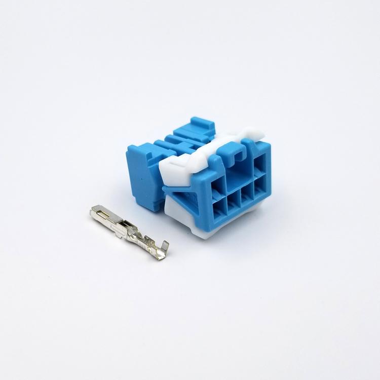 本田07至16款CRV8/9代思域13/14款杰德保险盒预留取电6孔插头